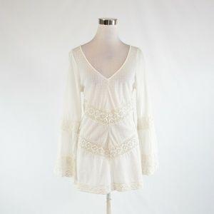 Ivory FREE PEOPLE tunic blouse M